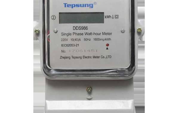 How does the specific function of the three-phase electric energy meter work?