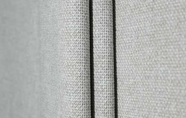 Plaid Curtains Made Of Woven Imitation Linen Fabric