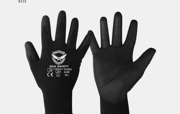 Anti-static coated gloves with PU coating technology