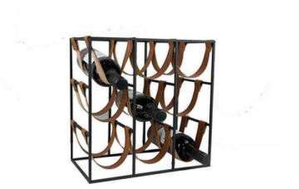 Where do you hang the metal wine holder?