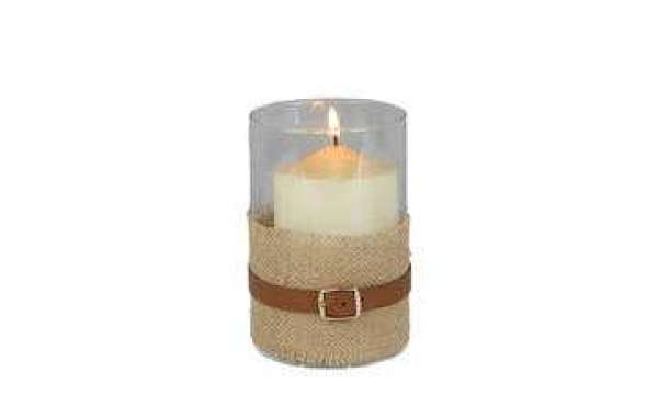 metal candle holder provides support for candles